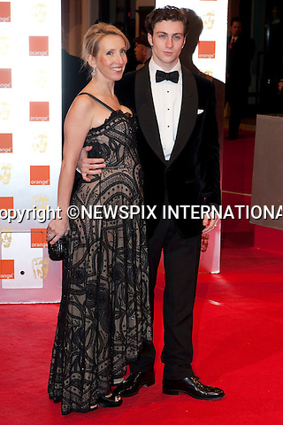 "Sam Taylor-Wood with fiancé Aaron Johnson.at the Annual British Academy Film Awards, Royal Opera House, London_21st February, 2010..Mandatory Photo Credit: ©Dias/NEWSPIX INTERNATIONAL..**ALL FEES PAYABLE TO: ""NEWSPIX INTERNATIONAL""**..PHOTO CREDIT MANDATORY!!: NEWSPIX INTERNATIONAL(Failure to credit will incur a surcharge of 100% of reproduction fees)..IMMEDIATE CONFIRMATION OF USAGE REQUIRED:.Newspix International, 31 Chinnery Hill, Bishop's Stortford, ENGLAND CM23 3PS.Tel:+441279 324672  ; Fax: +441279656877.Mobile:  0777568 1153.e-mail: info@newspixinternational.co.uk"