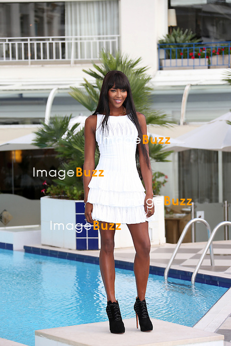"""Naomi Campbell during a photocall for  """" The Face """" at Mipcom in Cannes, France. October 8, 2013."""