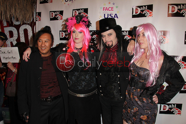 Johnnie Saiko, Constance Hall, Cleeve Hall, Alora Hall<br />