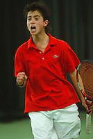 10-3-06, Netherlands, tennis, Rotterdam, National indoor junior tennis championchips, Xander Sprong