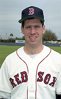 Boston Red Sox pitcher John Cerutti during spring training circa 1992 at Chain of Lakes Park in Winter Haven, Florida.  (MJA/Four Seam Images)