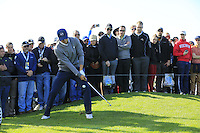 Jordan Spieth (USA) chips onto the 6th green at Pebble Beach Golf Links during Saturday's Round 3 of the 2017 AT&amp;T Pebble Beach Pro-Am held over 3 courses, Pebble Beach, Spyglass Hill and Monterey Penninsula Country Club, Monterey, California, USA. 11th February 2017.<br /> Picture: Eoin Clarke | Golffile<br /> <br /> <br /> All photos usage must carry mandatory copyright credit (&copy; Golffile | Eoin Clarke)