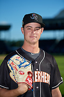 Jupiter Hammerheads pitcher Will Stewart (27) poses for a photo before a Florida State League game against the Bradenton Marauders on April 20, 2019 at LECOM Park in Bradenton, Florida.  Bradenton defeated Jupiter 3-2.  (Mike Janes/Four Seam Images)