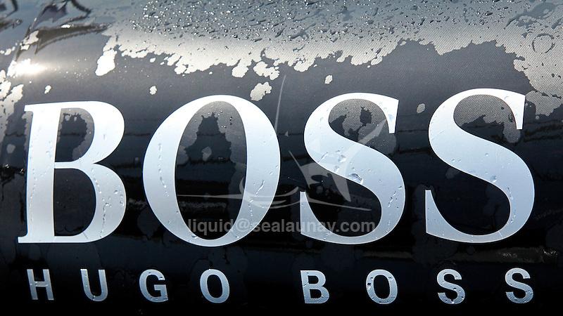 Alex Thomson unveiled the new-look IMOCA 60 Hugo Boss at Monaco.