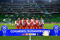 PALMIRA-COLOMBIA, 11-02-2020: Jugadores de River Plateposan para una foto previo al partido de ida entre Deportivo Cali de Colombia y River Plate of Paraguay, por la Copa Conmebol Sudamericana 2020 en el estadio Deportivo Cali de la ciudad de Palmira (Palmaseca). / Players of River Plate pose to a photo prior a match between Deportivo Cali of Colombia and River Plate of Paraguay, for the Conmebol Sudamericana Cup 2020 at the Deportivo Cali Stadium in Palmira (Palmaseca) city. / Photo: VizzorImage / Nelson Ríos / Cont.