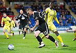 St Johnstone v Kilmarnock....06.11.10  .Andy Jackson is pulled down in the box by Mohamadou Sissoko but no penalty was awarded.Picture by Graeme Hart..Copyright Perthshire Picture Agency.Tel: 01738 623350  Mobile: 07990 594431