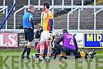 Colm Cooper, Dr. Crokes goes down injured in the All Ireland Senior Club Semi Final at Portlaoise on Saturday.