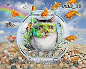 Lori, REALISTIC ANIMALS, REALISTISCHE TIERE, ANIMALES REALISTICOS, paintings+++++Payback's a Beach_Final_3_72,USLS35,#A#, EVERYDAY ,puzzles