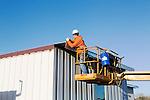 Otterbein University Roof Work & Metal Stud Job Site Photography | Corna-Kokosing