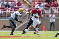 STANFORD, CA - SEPTEMBER 13, 2014:  Austin Hooper during Stanford's game against Army. The Cardinal defeated the Black Knights 35-0.