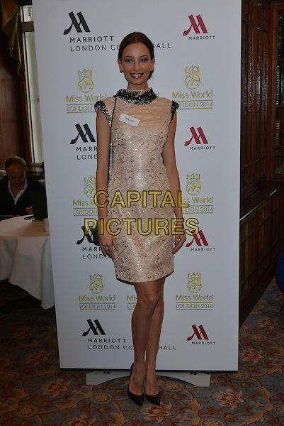 Miss Poland  Ada SZTAJEROWSKA<br /> photocall for Miss World 2014 contestants in central London, on November 25, 2014. This year's Miss World contest will take place in London on December 14, 2014<br /> CAP/PL<br /> &copy;Phil Loftus/Capital Pictures