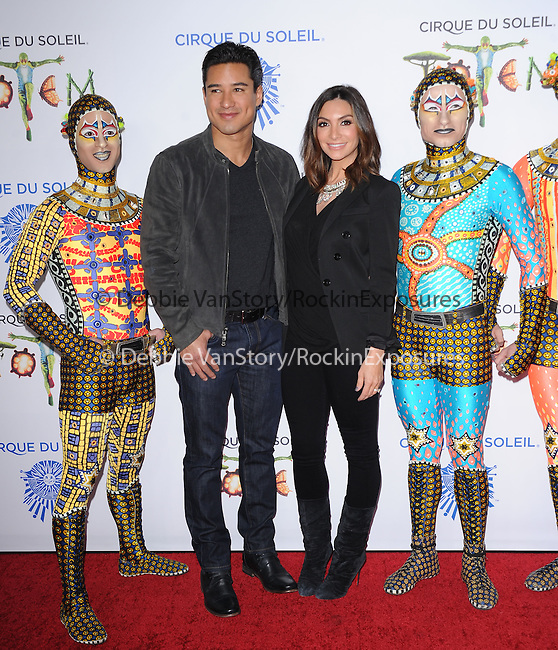 Mario Lopez and wife Courtney Mazza attends Totem from Cirque du Soleil Premiere at Santa Monica Pier in Santa Monica, California on January 21,2014                                                                               © 2014 Hollywood Press Agency