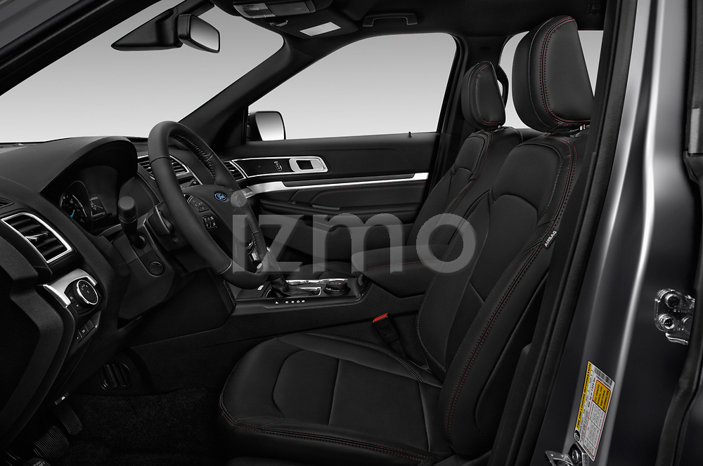 Front seat view of a 2018 Ford Explorer Sport 5 Door SUV front seat car photos