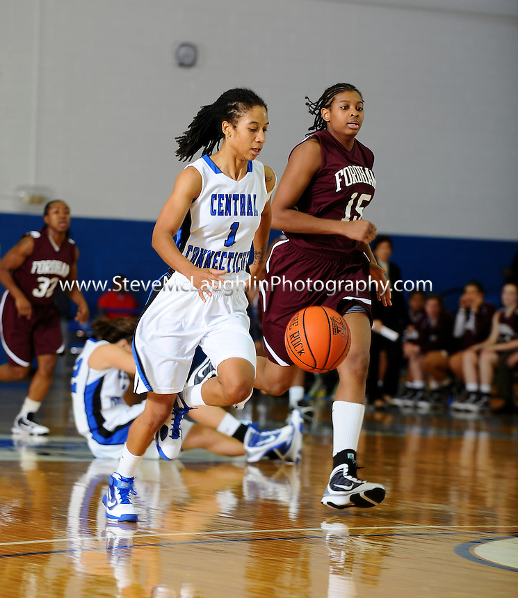 CCSU Women's Basketball vs. Fordham in New Britain, CT.