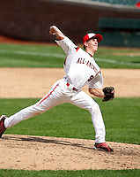August 8, 2009:  Pitcher Casey Mulholland (9) of Team One during the Under Armour All-America event at Wrigley Field in Chicago, IL.  Photo By Mike Janes/Four Seam Images