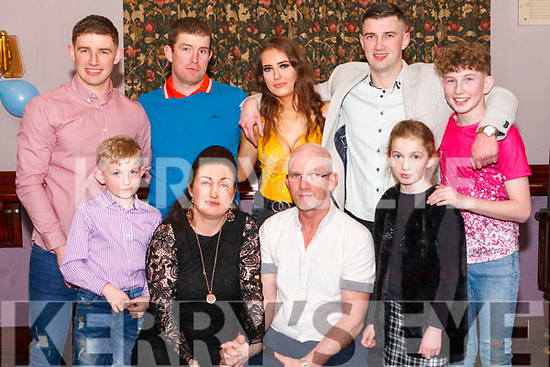 Tommy & Tricia Smith Abbeyfeale pictured with their seven children on the occasion of their joint 50th. Birthday which was held last Friday night in the Winners Circle with family & friends. <br /> Front: Kyle Tricia, Tommy & Corey. <br /> Back: Chris, Thomas, Tiegan, Dean & Karl.