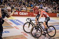 Tosh Van der Sande (BEL/Lotto Soudal) & Jasper de Buyst (BEL/Lotto-Soudal) win the Omnium<br /> <br /> Lotto 6daagse Vlaanderen-Gent 2018 / Gent6<br /> day 5