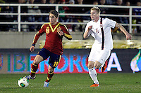 Spain's Deulofeu and Norway's Jonassen during an International sub21 match. March 21, 2013.(ALTERPHOTOS/Alconada) /NortePhoto