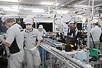 "May 31, 2017, Utsunomiya, Japan - Japan's electronics giant Panasonic employees assemble Panasonic's new Organic Light Emitting Diode (OLED) television sets ""Viera"" at the Panasonic Manufacturing Innovation Center in Utsunomiya , 100km north of Tokyo on Wednesday, May 31, 2017. Panasonic will start to sell 55-inch and 65-inch sized 4K OLED TV series from next month.   (Photo by Yoshio Tsunoda/AFLO) LwX -ytd-"