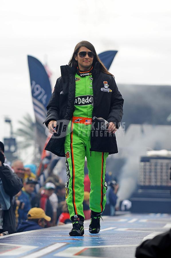 Feb. 26, 2012; Daytona Beach, FL, USA; NASCAR Sprint Cup Series driver Danica Patrick prior to the Daytona 500 at Daytona International Speedway. Mandatory Credit: Mark J. Rebilas-