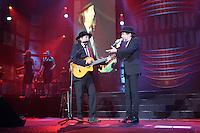 MIAMI, FL - NOVEMBER 16:  Joan Manuel Serrat and Joaquin Sabina in concert  at the American Airlines Arena in Miami, florida. November 16, 2012. Credit: Majo Grossi/MediaPunch Inc. NortePhoto