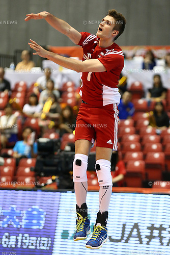 Karol Klos (POL),<br /> MAY 29, 2016 - Volleyball :<br /> Men's Volleyball World Final Qualification for the Rio de Janeiro Olympics 2016<br /> match between France 2-3 Poland<br /> at Tokyo Metropolitan Gymnasium, Tokyo, Japan.<br /> (Photo by Shingo Ito/AFLO SPORT)