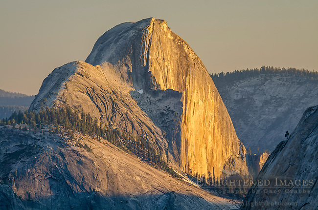 Sunset light on Half Dome from Olmsted Point, Yosemite National Park, California