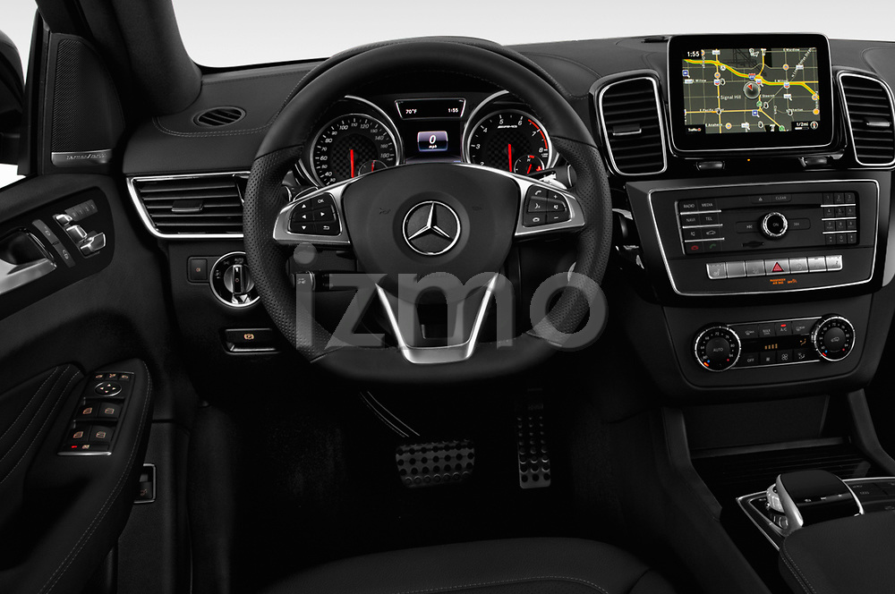 Car pictures of steering wheel view of a 2018 Mercedes Benz GLE-Class Coupe GLE43 AMG 4MATIC 5 Door SUV