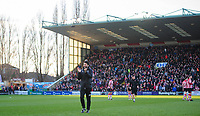 Lincoln City manager Danny Cowley applauds the fans before kick off<br /> <br /> Photographer Chris Vaughan/CameraSport<br /> <br /> The EFL Sky Bet League Two - Lincoln City v Port Vale - Tuesday 1st January 2019 - Sincil Bank - Lincoln<br /> <br /> World Copyright © 2019 CameraSport. All rights reserved. 43 Linden Ave. Countesthorpe. Leicester. England. LE8 5PG - Tel: +44 (0) 116 277 4147 - admin@camerasport.com - www.camerasport.com