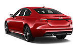 Car pictures of rear three quarter view of 2017 Jaguar XF R-Sport 4 Door Sedan Angular Rear