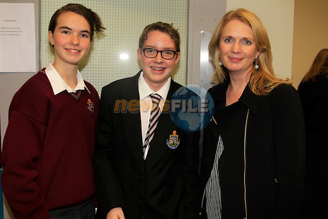Amaia McDonnell Jack Synnott And Cora McDonnell at the Soapbox competition in the Library.<br /> Picture: www.newsfile.ie