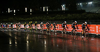 PICTURE BY MARK GREEN/SWPIX.COM ATP  Tour of Abu Dhabi - Yas Island Stage, UAE, 26/02/17<br /> Riders in the rain at the Yas Marina stage of the 2017 Tour of Abu Dhabi