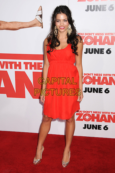 "JENNA DEWAN.""You Don't Mess With The Zohan"" LA Premiere at Grauman's Chinese Theatre, Hollywood, California, USA..May 28th, 2008.full length red dress gold shoes  .CAP/ADM/BP.©Byron Purvis/AdMedia/Capital Pictures."