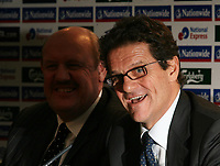 LONDON, ENGLAND - Monday, December 17, 2007: Fabio Capello faces the British media in his first Press Conference at the Royal Lancaster Hotel, central London. (Photo by David Rawcliffe/Propaganda)