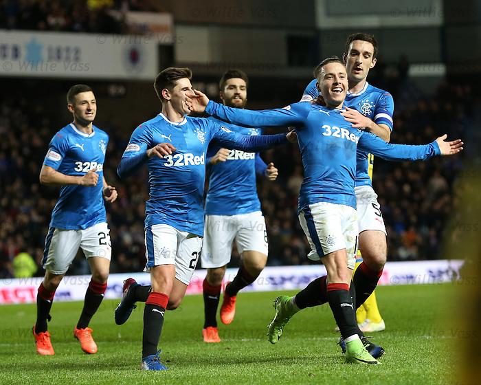 Barrie McKay celebrates his goal