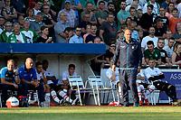 LEER - Voetbal , Werder Bremen - FC Emmen, oefenduel, seizoen 2018--2019, 04-09-2018, FC Emmen trainer Dick Lukkien