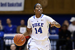 25 November 2014: Duke's Ka'lia Johnson. The Duke University Blue Devils hosted the State University of New York Buffalo Bulls at Cameron Indoor Stadium in Durham, North Carolina in a 2014-15 NCAA Division I Women's Basketball game. Duke won the game 88-54.