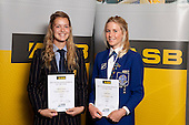 Tennis Girls finalists Mikaela Davies and Carli Davis.  ASB College Sport Young Sportsperson of the Year Awards held at Eden Park, Auckland, on November 11th 2010.