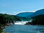Hydro electric generating dam on Kootenay River at Castlegar, British Columbia, Canada<br />