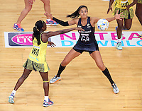 11.08.2015 Silver Ferns Maria Tutaia in action during the Silver Ferns v Jamaica netball match at the 2015 Netball World Cup at All Phones Arena in Sydney Australia. Mandatory Photo Credit ©Michael Bradley.