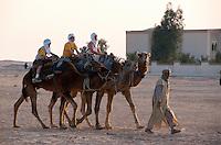 Touristen auf Kamel, Douz, Tunesien