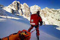 Fulpmes, Stubaital, Tirol, Austria, January 2006. The Bergrettung Tyrol mountain rescue teams have to respond to avalanches within 30 minutes if the victims are to have any chance of surviving. photo by Frits Meyst/Adventure4ever.com