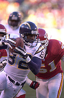 San Diego Chargers wide receiver Trevor Gaylor in the second half against the Chiefs at Arrowhead Stadium in Kansas City, Missouri on December 23, 2001.  The Chiefs won 20-17.