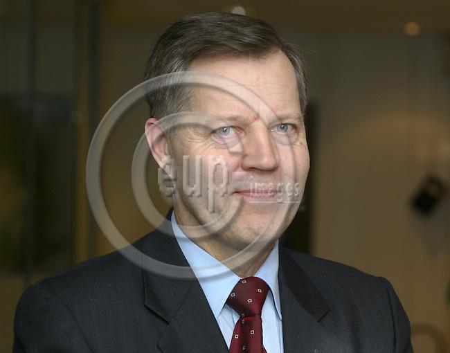 BRUSSELS, BELGIUM / 19 February 2002--Eikka KOSONEN, Finnish EU-Ambassador in Brussels. -- PHOTO: JUHA ROININEN / EUP-IMAGES