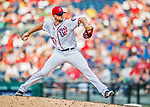 29 June 2017: Washington Nationals pitcher Blake Treinen on the mound against the Chicago Cubs at Nationals Park in Washington, DC. The Cubs rallied against the Nationals to win 5-4 and split their 4-game series. Mandatory Credit: Ed Wolfstein Photo *** RAW (NEF) Image File Available ***