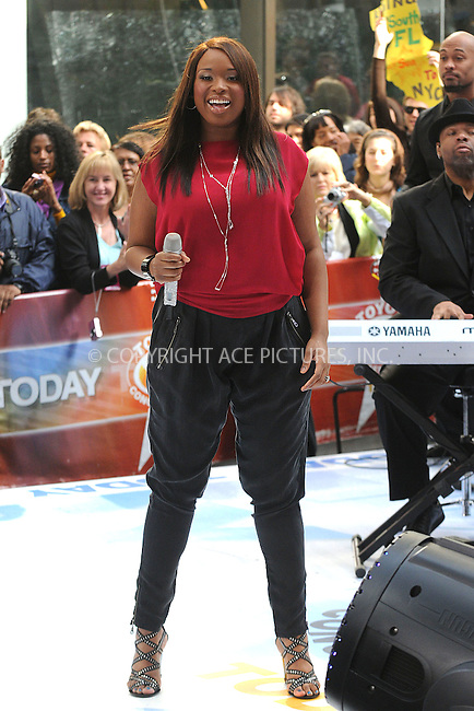 WWW.ACEPIXS.COM . . . . . ....May 15 2009, New York City....Singer Jennifer Hudson performed on NBC's 'Today Show' at the Rockefeller Plaza on May 15 2009 in New York City.....Please byline: KRISTIN CALLAHAN - ACEPIXS.COM.. . . . . . ..Ace Pictures, Inc:  ..tel: (212) 243 8787 or (646) 769 0430..e-mail: info@acepixs.com..web: http://www.acepixs.com