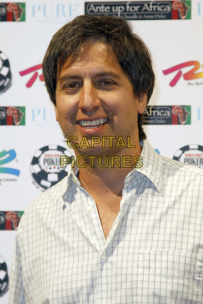 """RAY ROMANO .At the 2nd Annual """"Ante Up For Africa"""" Celebrity Poker Tournament during the 2008 World Series of Poker held at the Rio All-Suite Hotel and Casino, Las Vegas, Nevada, USA, 2 July 2008..portrait headshot .CAP/ADM/MJT.©MJT/Admedia/Capital Pictures"""
