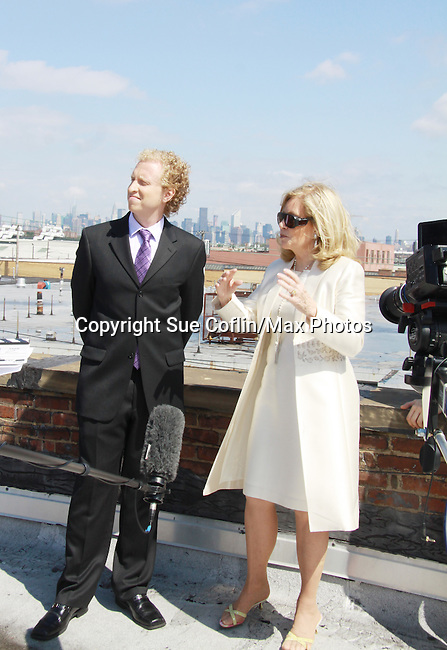 Chris J. Handley and Tina Sloan star in Empire The Series as it films on set June 3, 2012  in Brooklyn, New York. (Photo by Sue Coflin/Max Photos)