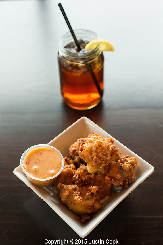 The Corn Fritters at Mason Jar Tavern in Holly Springs, N.C. on Friday, March 13, 2015. (Justin Cook)