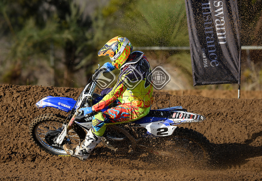 Jay Marmont / Yamaha<br /> MXN Round 5 - Wanneroo / MX1<br /> 2014 Monster Energy MX Nationals<br /> Australian Motocross Championship<br /> Wanneroo WA 25th May 2014<br /> &copy; Sport the library / Jeff Crow